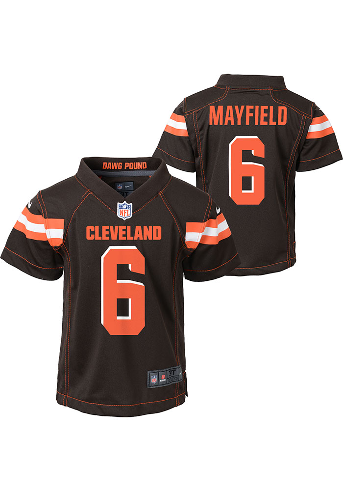 Baker Mayfield Cleveland Browns Toddler Brown Gameday Jersey Jersey - Image 3