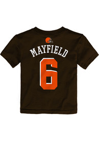 003b27a5ca6 Baker Mayfield Cleveland Browns Toddler Brown Mainliner N N Player Tee