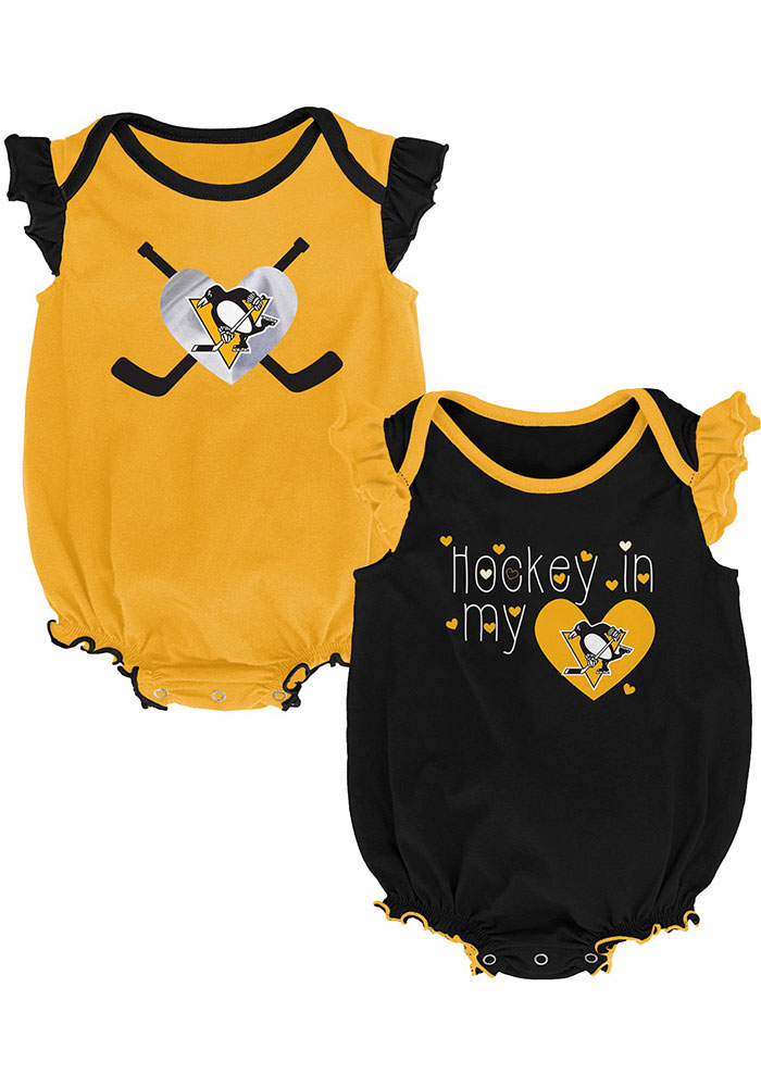 Pittsburgh Penguins Baby Black Team Player Set One Piece - Image 1