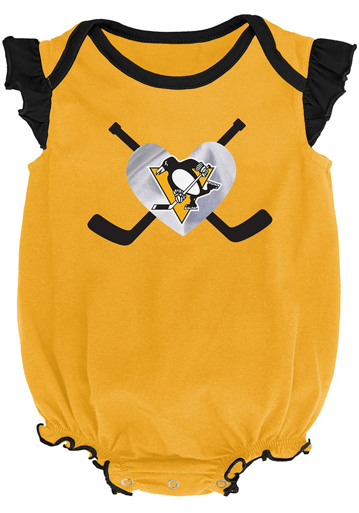 Pittsburgh Penguins Baby Black Team Player Set One Piece - Image 2