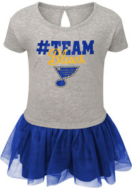St Louis Blues Baby Girls All Game Dress - Grey