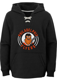 Gritty Philadelphia Flyers Youth Outer Stuff Gritty Circle Hooded Sweatshirt - Black