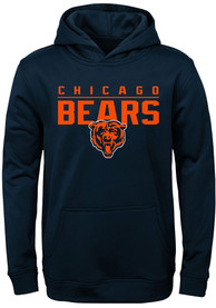 Chicago Bears Youth Pacesetter Hooded Sweatshirt - Navy Blue