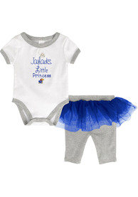 Kansas Jayhawks Infant Girls Lil Princess Top and Bottom - Grey