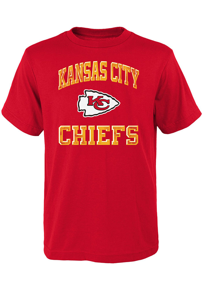 Kansas City Chiefs Youth Red Power Short Sleeve T-Shirt - Image 1