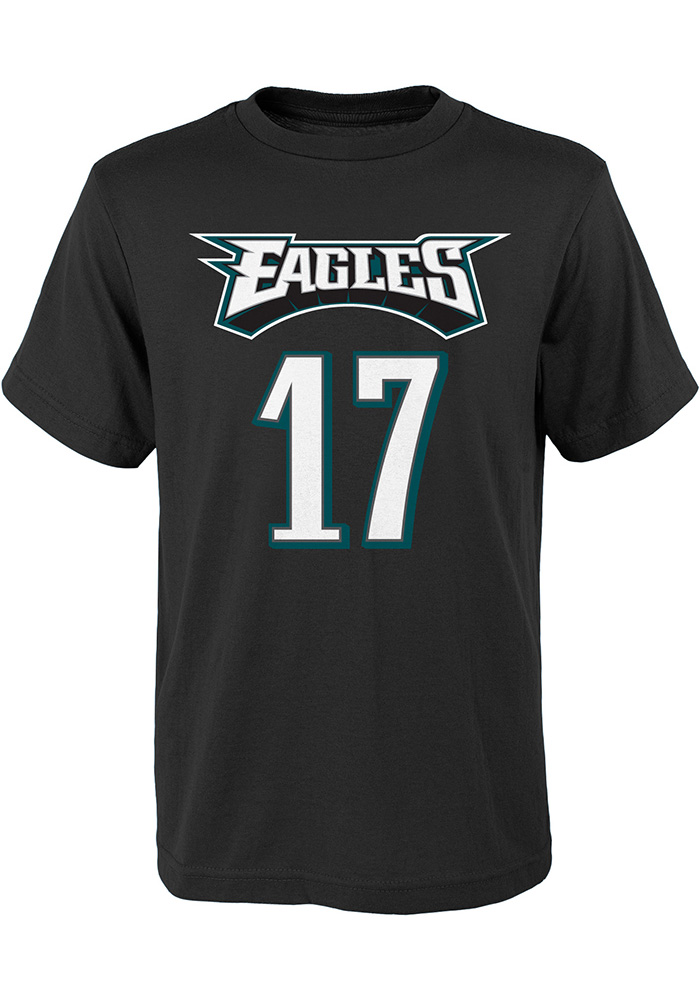 Philadelphia Eagles Youth Black Mainliner Player Tee - Image 1
