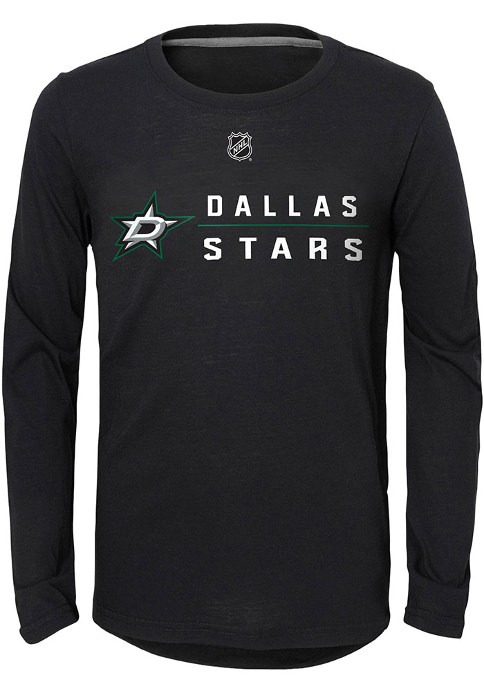 Dallas Stars Youth Black Deliver a Hit Long Sleeve T-Shirt - Image 1