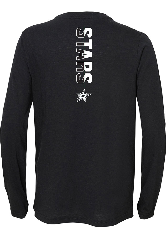 Dallas Stars Youth Black Deliver a Hit Long Sleeve T-Shirt - Image 2