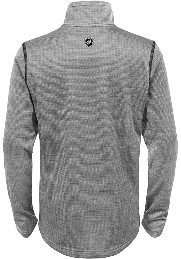 Detroit Red Wings Youth Grey Back to the Arena Long Sleeve Quarter Zip Shirt - Image 2