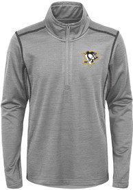 Pittsburgh Penguins Youth Back to the Arena Quarter Zip - Grey