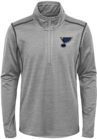 St Louis Blues Youth Back to the Arena Quarter Zip - Grey