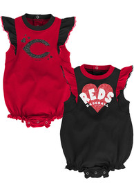 Cincinnati Reds Baby Double Trouble One Piece - Red