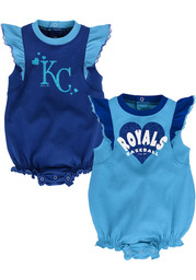 Kansas City Royals Baby Double Trouble One Piece - Blue