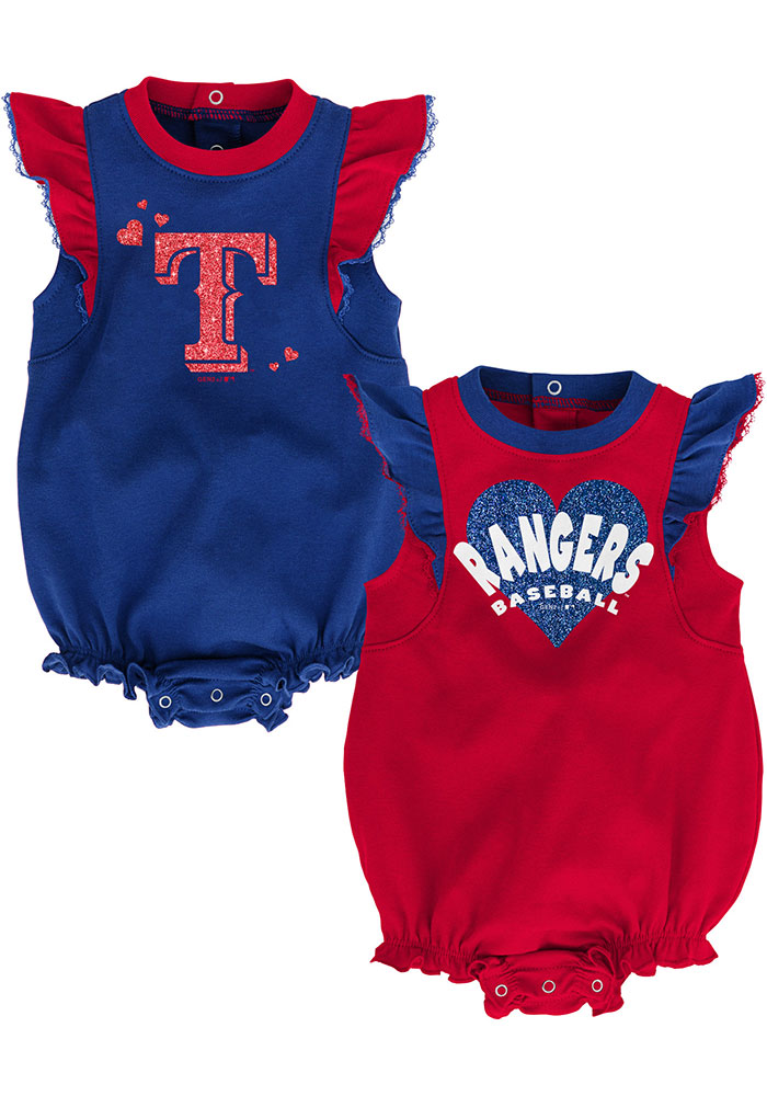 Texas Rangers Baby Red Double Trouble Set One Piece - Image 1