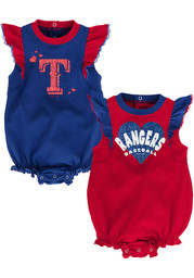 Texas Rangers Baby Double Trouble One Piece - Red