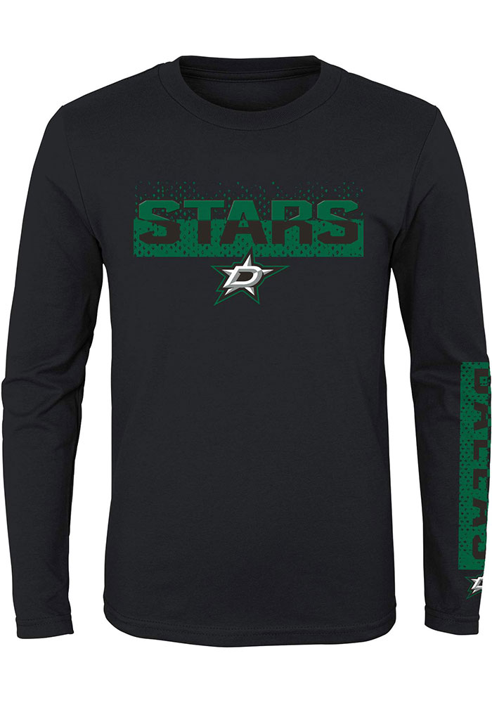 Dallas Stars Youth Black Slap Shot Long Sleeve T-Shirt - Image 1