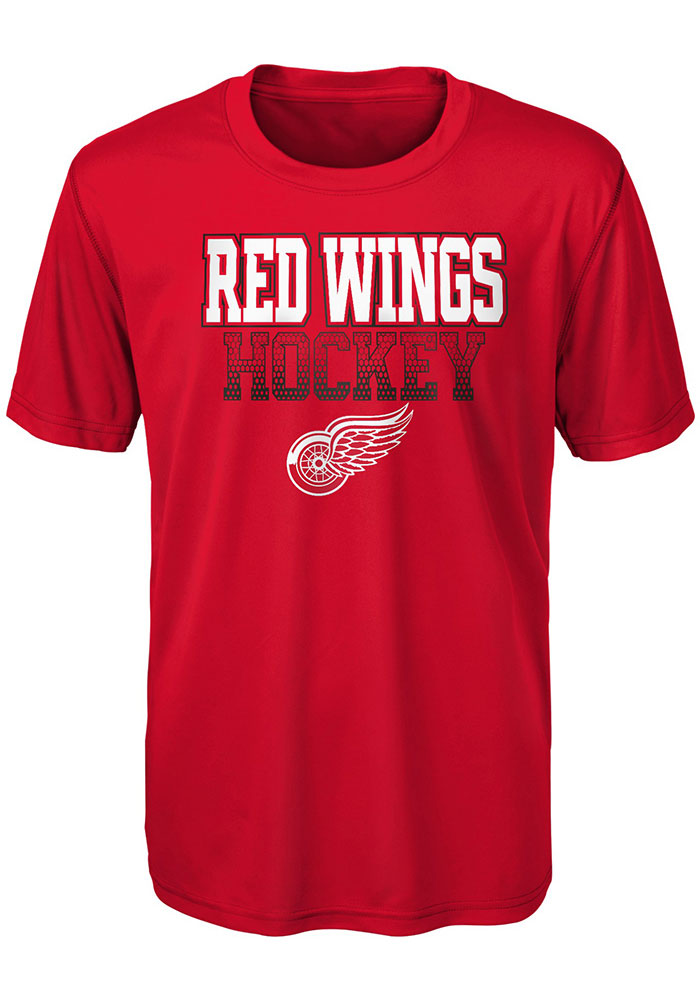 Detroit Red Wings Boys Red Elite Short Sleeve T-Shirt - Image 1
