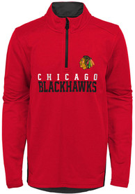 Chicago Blackhawks Boys Benchmark 1/4 Zip Pullover - Red