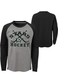 Dallas Stars Boys Intent Fashion T-Shirt - Grey
