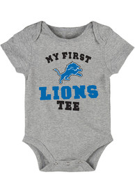 Detroit Lions Baby My First One Piece - Grey