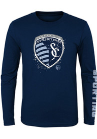 Sporting Kansas City Youth Deconstructed T-Shirt - Navy Blue