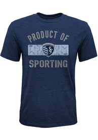Sporting Kansas City Youth Practice Team Fashion T-Shirt - Navy Blue