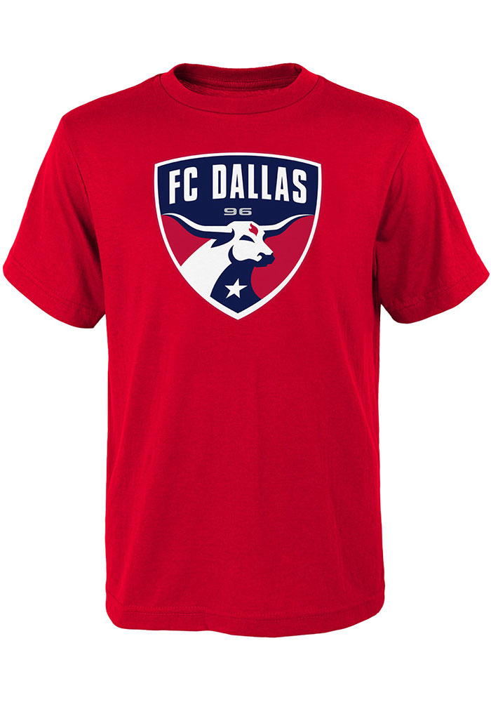 FC Dallas Youth Red Primary Logo Short Sleeve T-Shirt - Image 1
