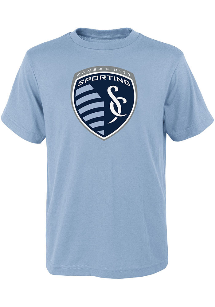 Sporting Kansas City Youth Primary Logo T-Shirt - Light Blue