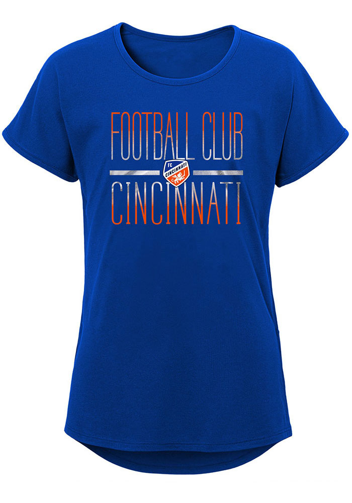 FC Cincinnati Girls Blue Glory Dolman Short Sleeve Tee - Image 1