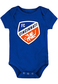 FC Cincinnati Baby Primary Logo One Piece - Blue