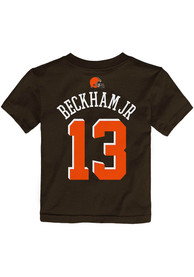 Odell Beckham Jr Cleveland Browns Infant Outer Stuff Name and Number T-Shirt - Brown