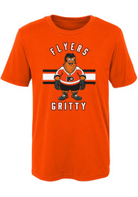Gritty Philadelphia Flyers Boys Outer Stuff Gritty Life T-Shirt - Orange