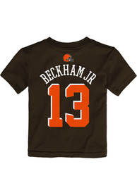 Odell Beckham Jr Cleveland Browns Toddler Outer Stuff Name and Number T-Shirt - Brown