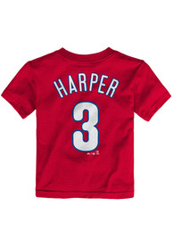 Bryce Harper Philadelphia Phillies Infant Outer Stuff Name and Number T-Shirt - Red