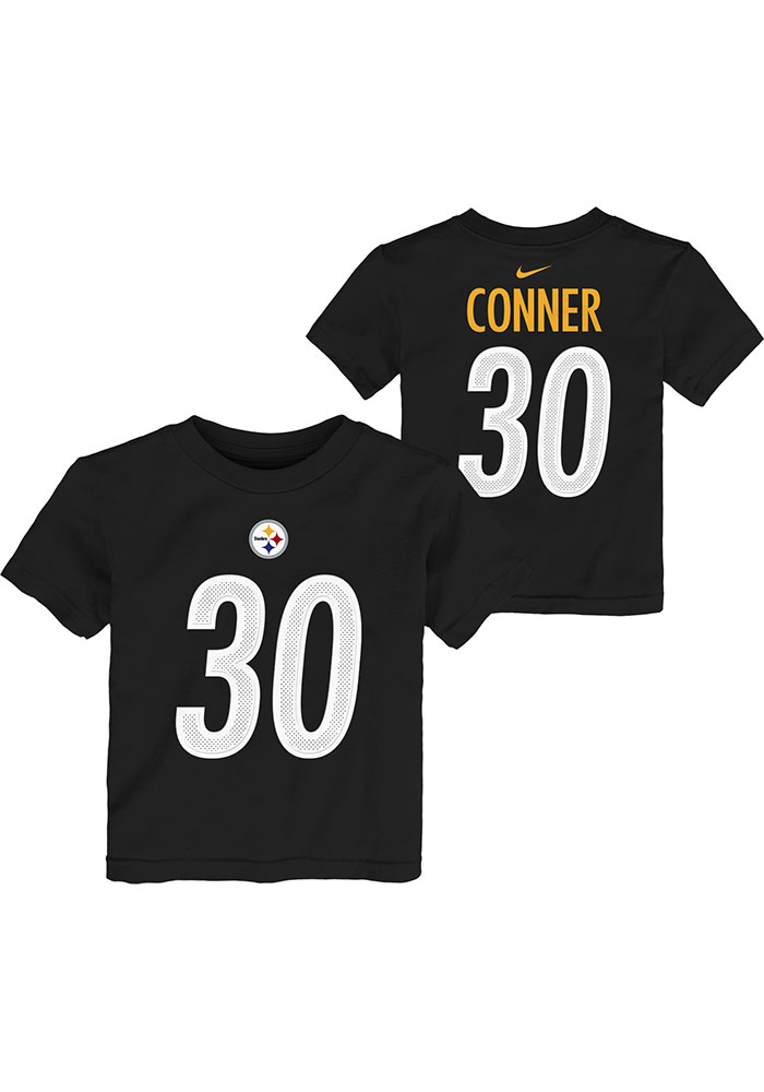 best loved 765e2 4ee56 James Conner Pittsburgh Steelers Toddler Black Player Pride 3.0 Short  Sleeve Player T Shirt