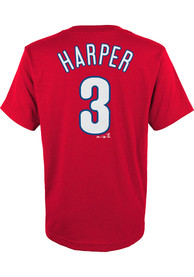 Bryce Harper Philadelphia Phillies Youth Name and Number T-Shirt - Red