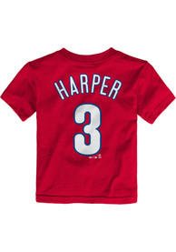 Bryce Harper Philadelphia Phillies Toddler Outer Stuff Name and Number T-Shirt - Red