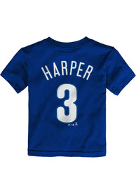Bryce Harper Philadelphia Phillies Toddler Outer Stuff Name and Number T-Shirt - Blue