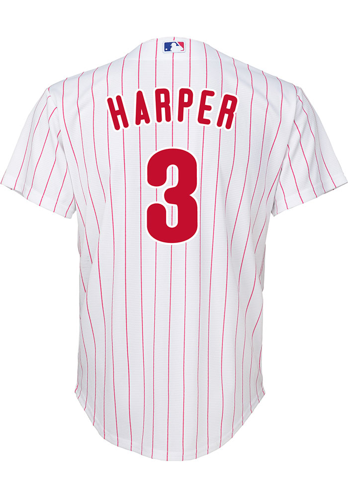 Bryce Harper Outer Stuff Philadelphia Phillies Youth White Home Replica Jersey - Image 1