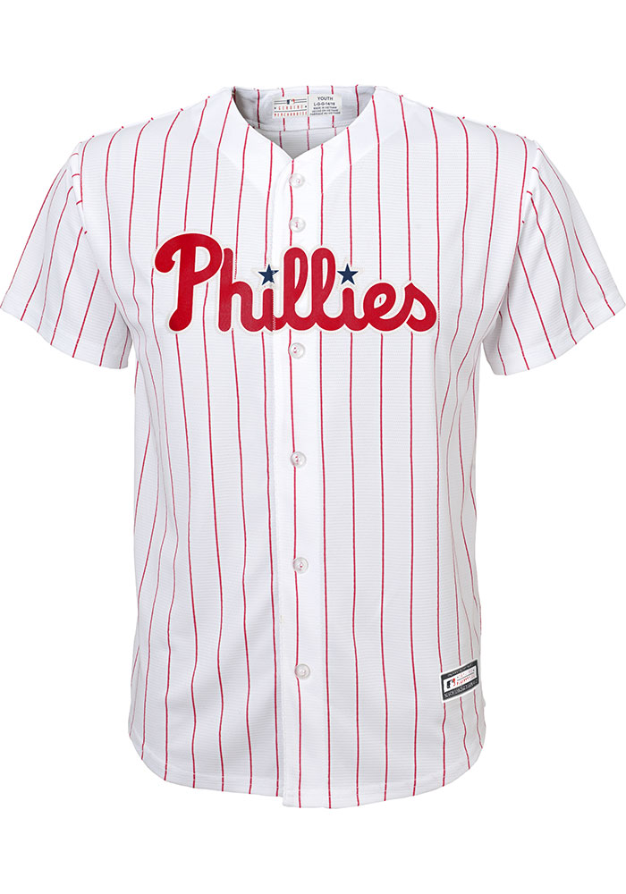 Bryce Harper Outer Stuff Philadelphia Phillies Youth White Home Replica Jersey - Image 2