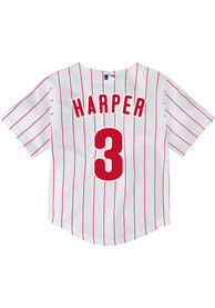 sale retailer dd731 0c05d Bryce Harper Philadelphia Phillies Toddler White Home Replica Baseball  Jersey