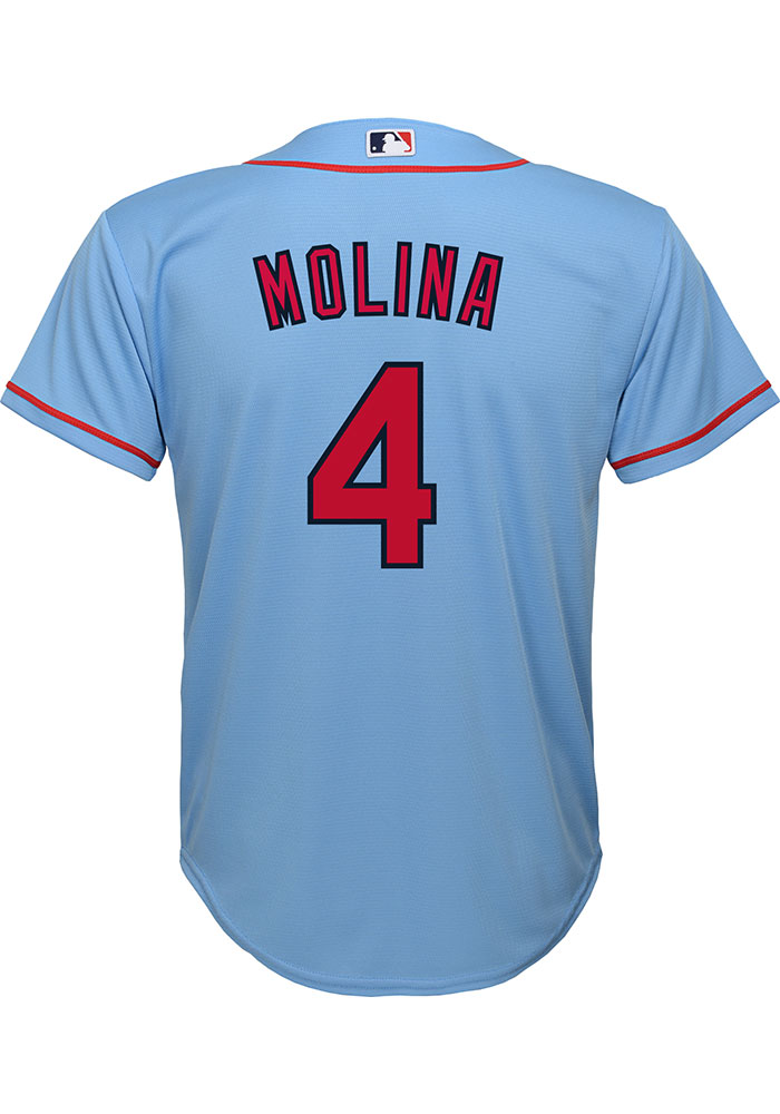 Yadier Molina Outer Stuff St Louis Cardinals Youth Light Blue Alt Replica Jersey - Image 1