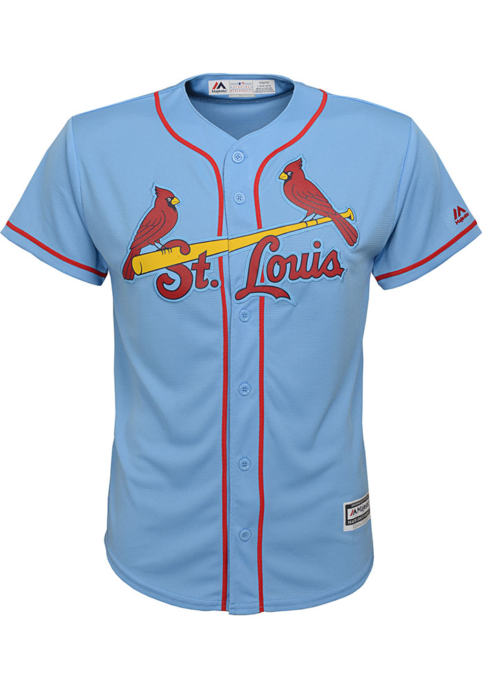 Yadier Molina Outer Stuff St Louis Cardinals Youth Light Blue Alt Replica Jersey - Image 2