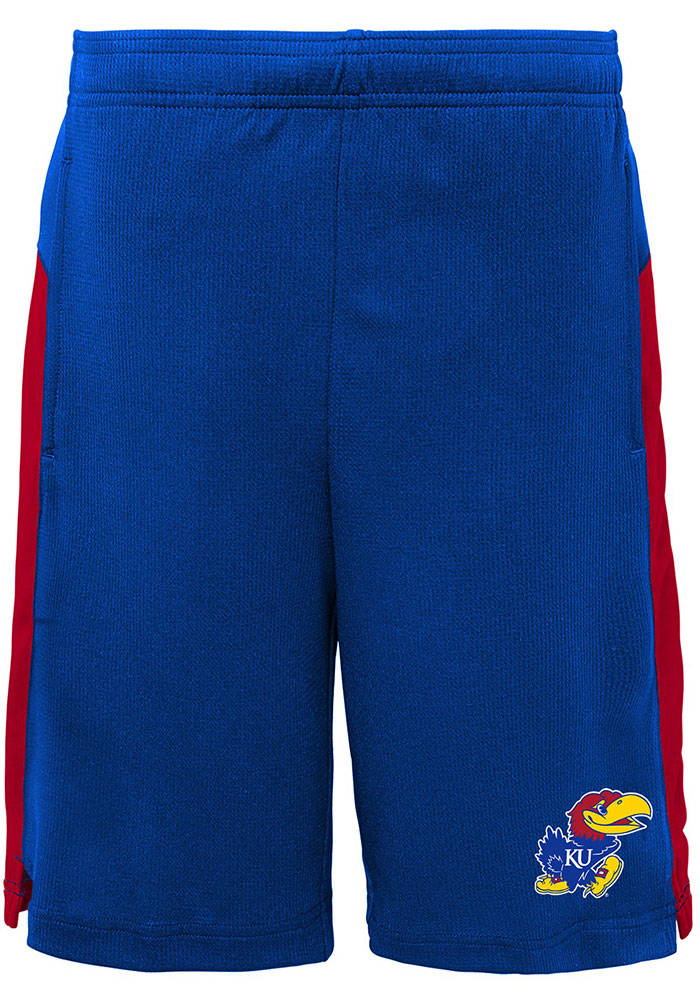 Kansas Jayhawks Youth Blue Grand Shorts - Image 1