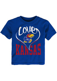 Kansas Jayhawks Toddler Girls New Love T-Shirt - Blue