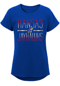 Kansas Jayhawks Girls Glory T-Shirt - Blue