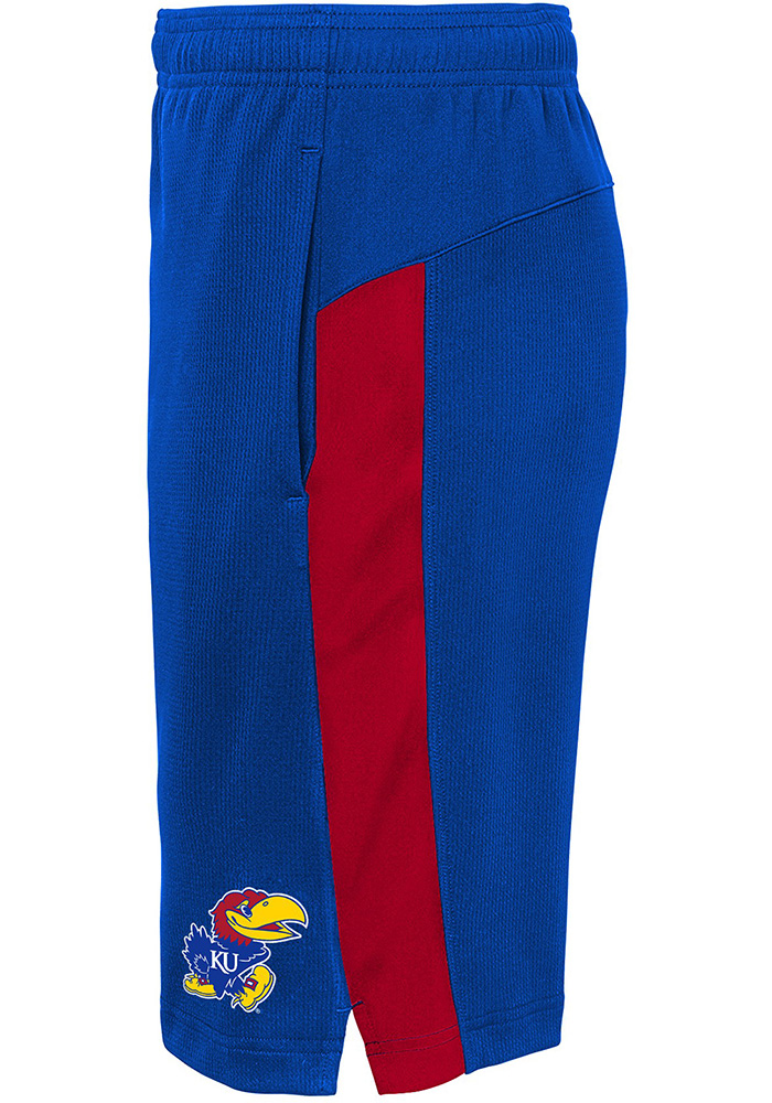 Kansas Jayhawks Boys Blue Grand Shorts - Image 2