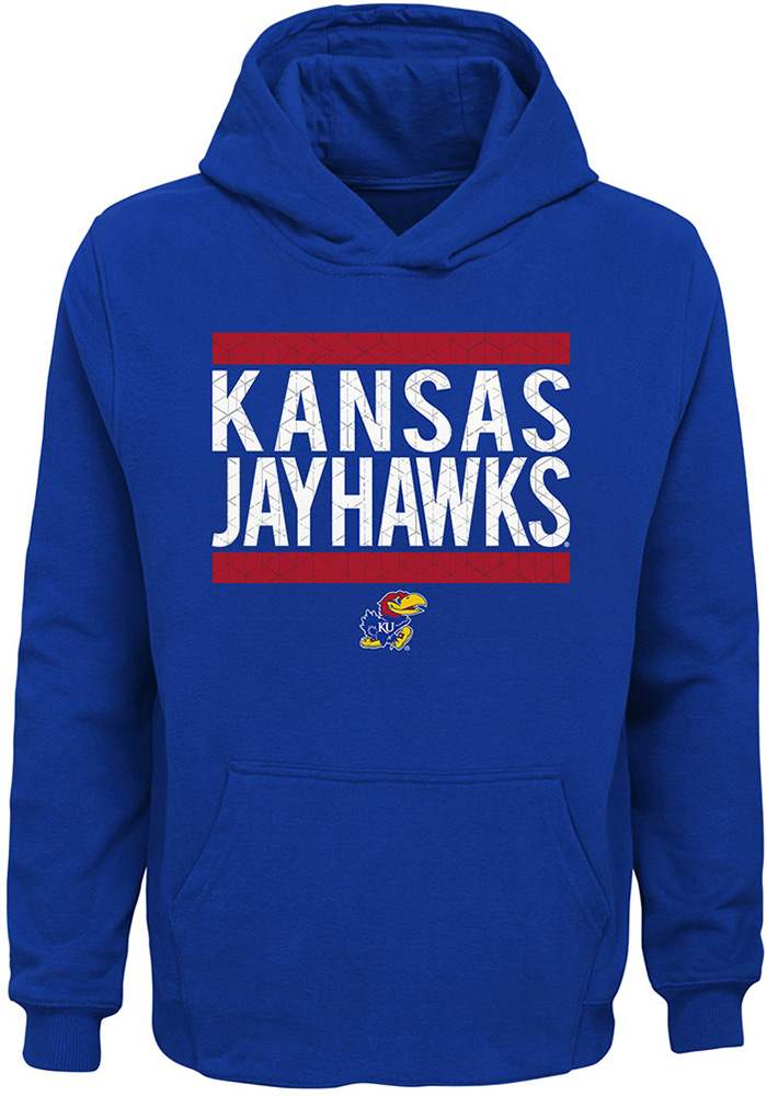 Kansas Jayhawks Youth Evolve Hooded Sweatshirt - Blue