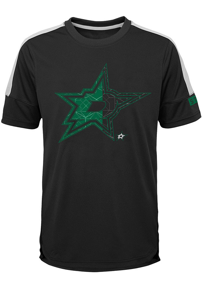 Dallas Stars Boys Black Power Short Sleeve T-Shirt - Image 1