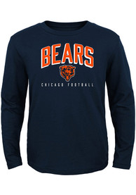 Chicago Bears Boys Arched Standard T-Shirt - Navy Blue